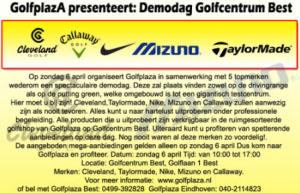 GolfplazA presenteert: 6 april demodag - golfnet.nl Golfplaza